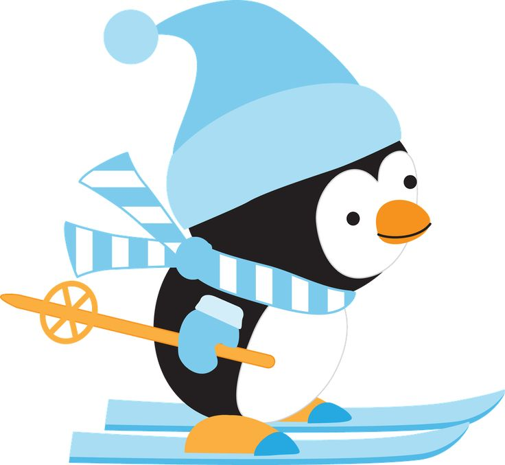 Animal clipart skiing Pinterest on images Penguins 362