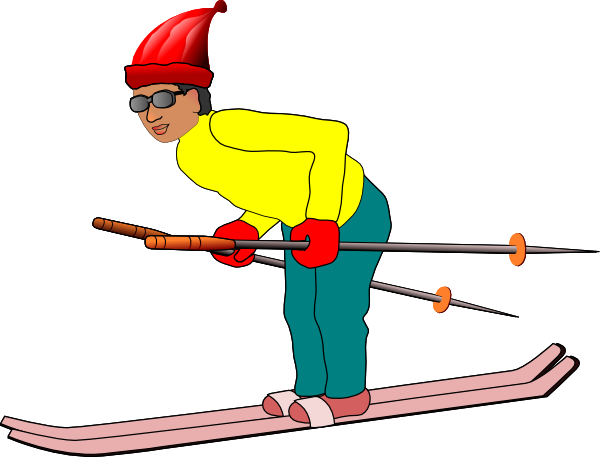 Skiing clipart person skiing Clip Ski Clip com Man