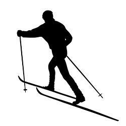 Ski clipart cross country skiing Skiing Cross skier Country Cross