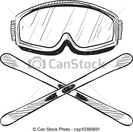 Ski clipart person skiing  style Skis Skis equipment