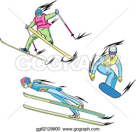 Skiing clipart ski snowboard Sports: freestyle Vector snowboarding Illustration