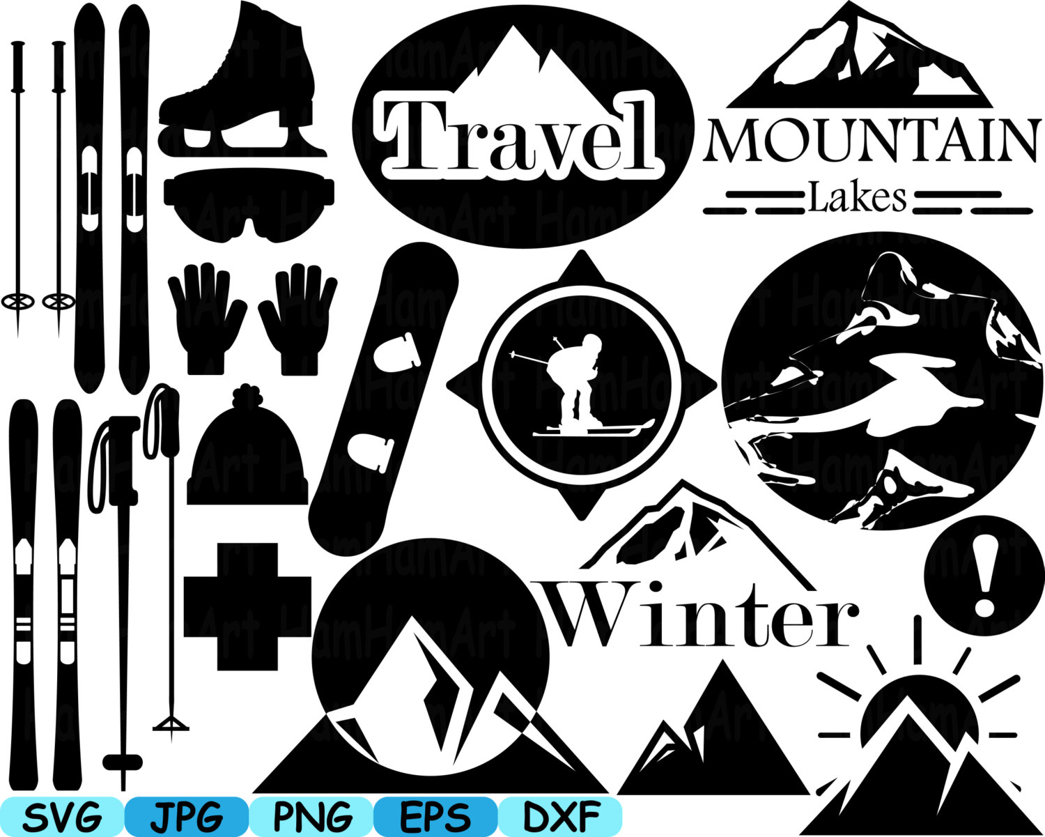 Skiing clipart ski snowboard Logo and a Black This