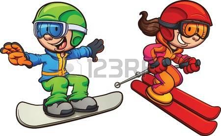 Skiing clipart ski snowboard And snowboarding clipart Skiing snowboarding