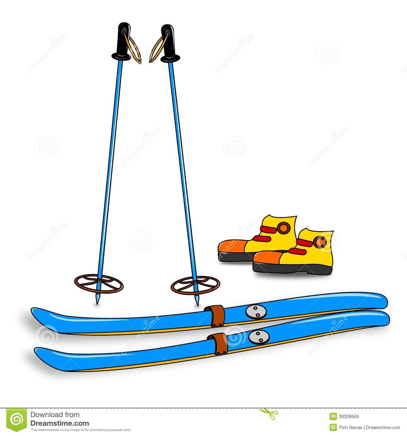 Skiing clipart skier Clipart Equipment  Ski