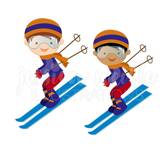 Ski clipart downhill skiing Skier Cute Boy Clipart Clip