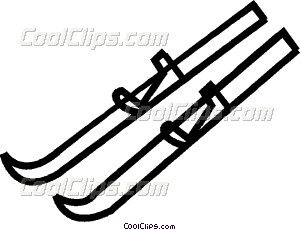 Ski clipart nordic skiing Country skis cross art Clip