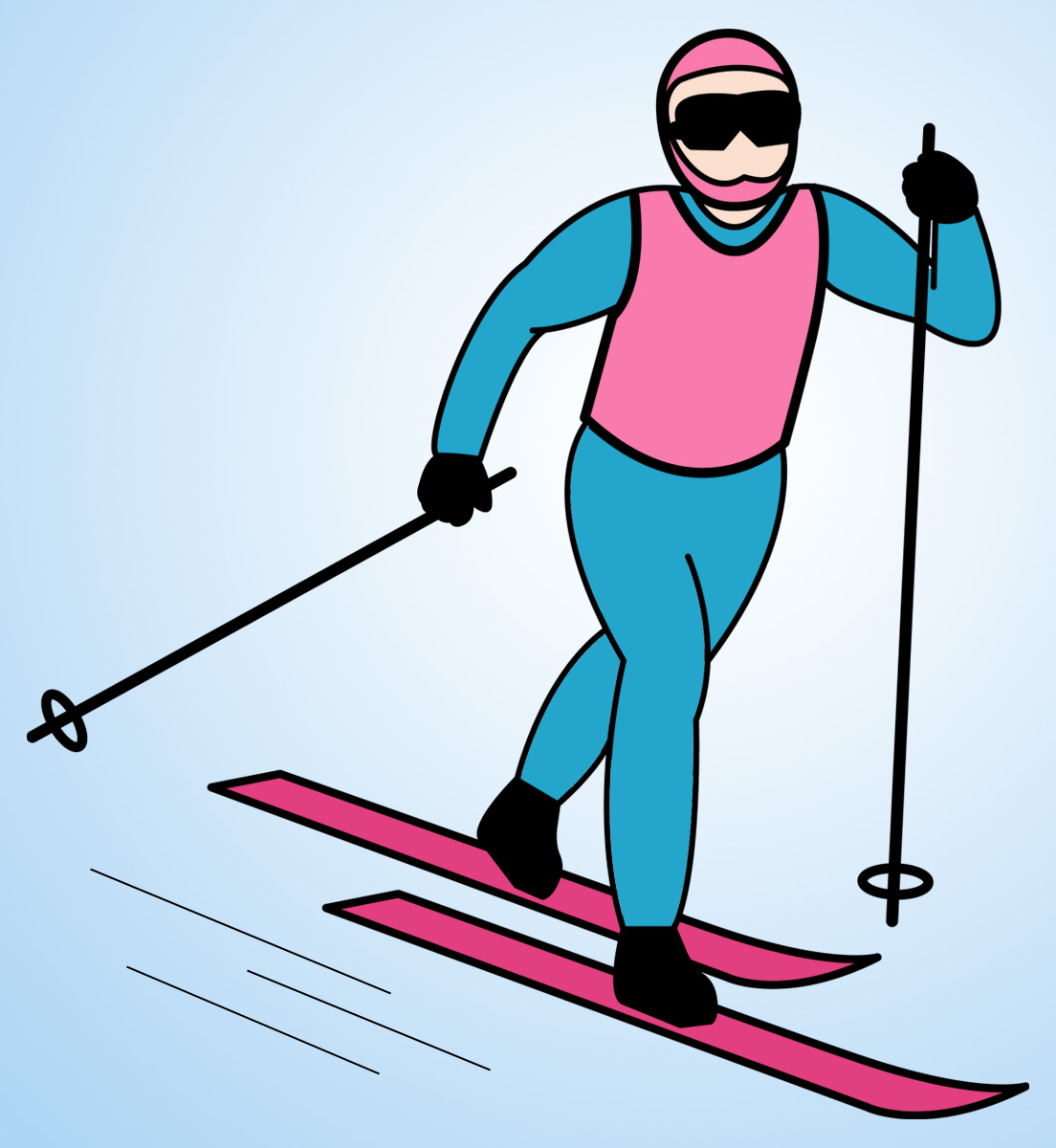 Skiing clipart snow skiing Skiing  Snow Background Clipart