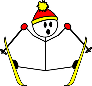 Crash clipart skier Of stick Clipart Cartoon of