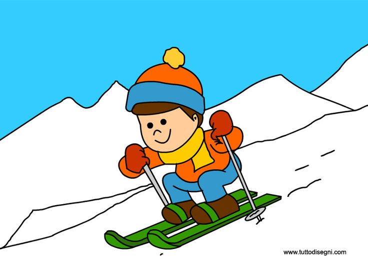 Skiing clipart winter activity On sport sci · inverno
