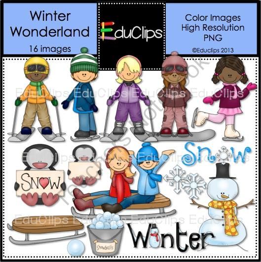 Skiing clipart winter activity Pages) Educlips com Wonderland Clip