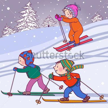 Skiing clipart winter activity (40+) art winter school Clipart