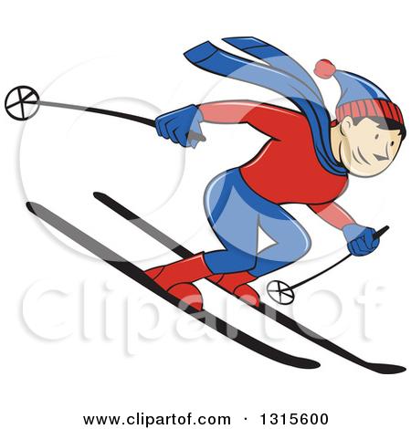 Skiing clipart winter sport Art art Fans Clipart clip
