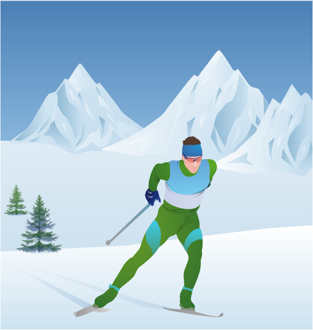 Skiing clipart winter sport Winter Infographics tree Spatial Map