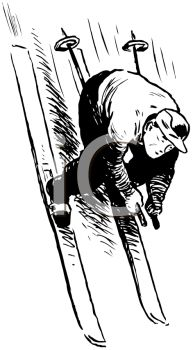 Skiing clipart wipeout Royalty Wipeout on of Clipart