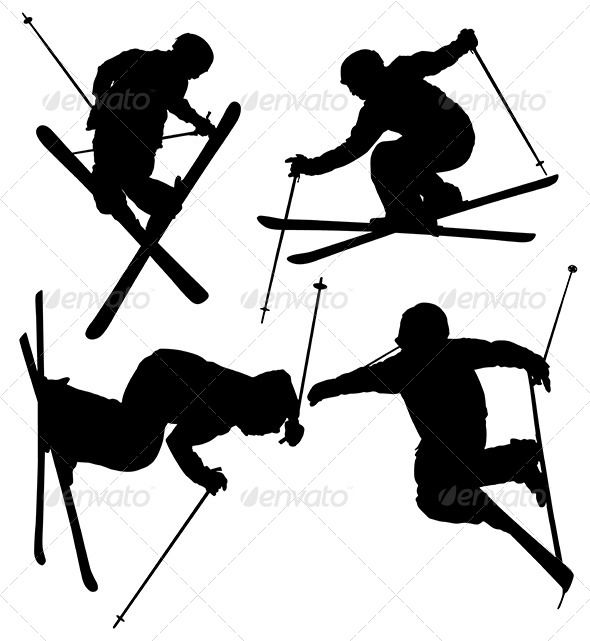 Skiing clipart wipeout 20 on Pinterest SVG images