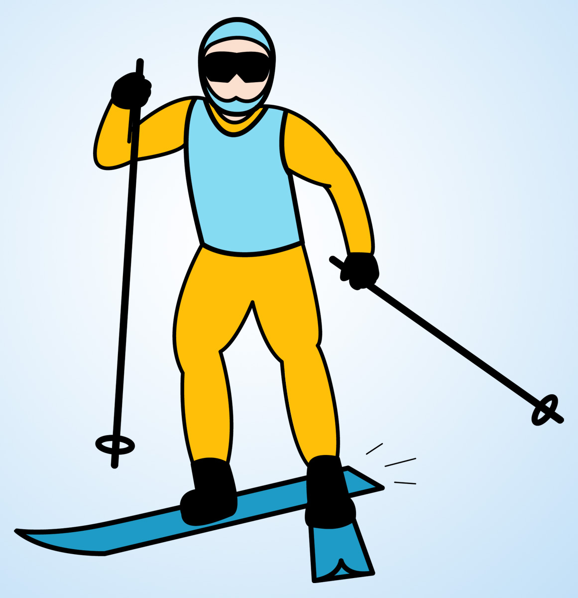 Skiing clipart wipeout Clipart Images Free Panda skier%20clipart