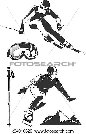 Skiing clipart wipeout Skiing Skiing Art Clipart Clip