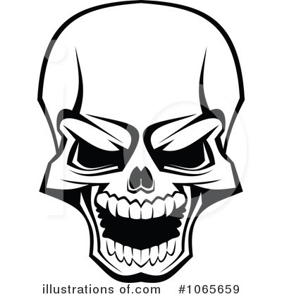 Ssckull clipart isometric (RF) SM Tradition Skull Vector