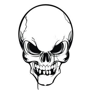 Ssckull clipart hockey Skull clipart 1 Angry image