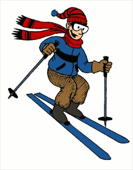 Skiing clipart downhill skiing Free Clipart Art Clip Clip