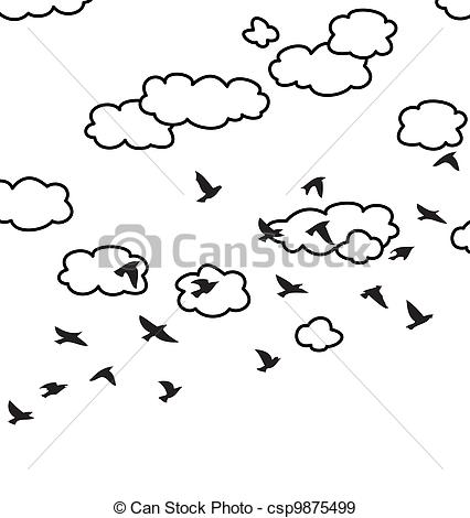 Clouds clipart bird Birds of and of birds