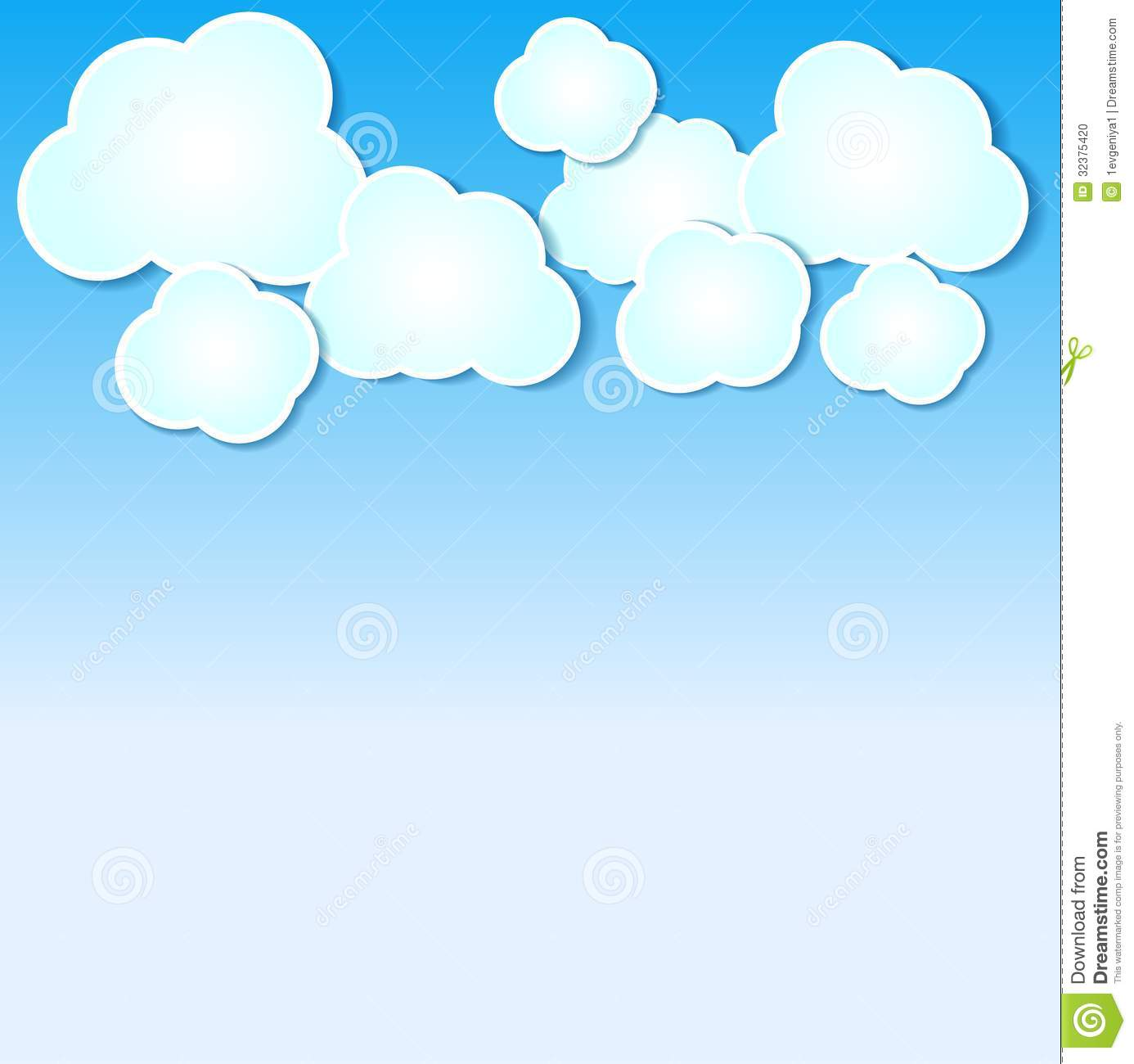 Clouds clipart light blue Clouds Paper illustrated Panda Clipart