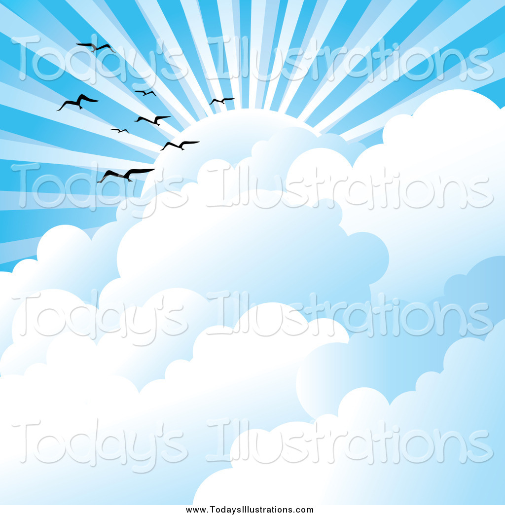 Clouds clipart bird Clipart Royalty Stock New Stock