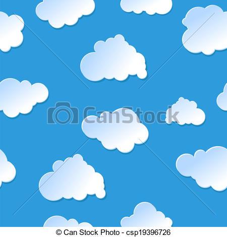 Drawn clouds cute cartoon Seamless cute cute plastic paper