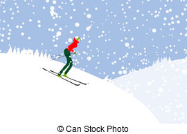 Skiing clipart mountain skiing Clip landscape  landscape of
