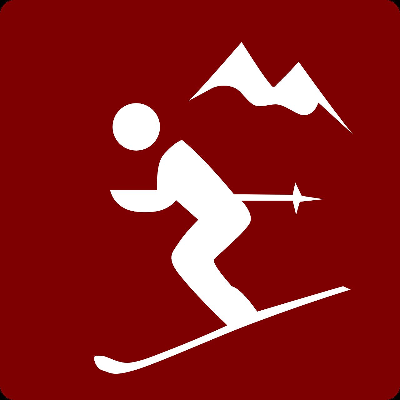 Ski clipart pair skis WinterNinja 2017 In How logo
