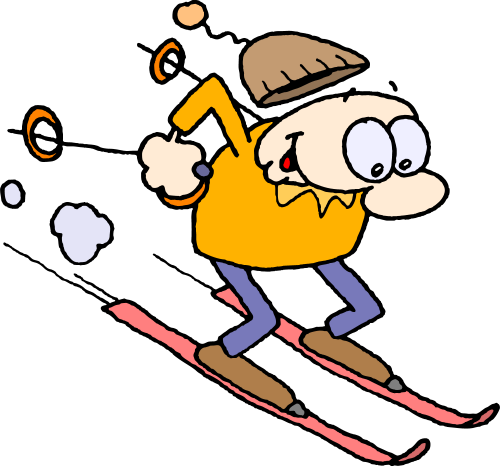 Skiing clipart person skiing Clipart Fans ski Clipart clip