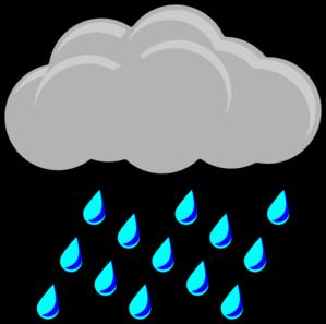 Thunderstorm clipart rainy season Cartoon Clouds Of Raindrops Free