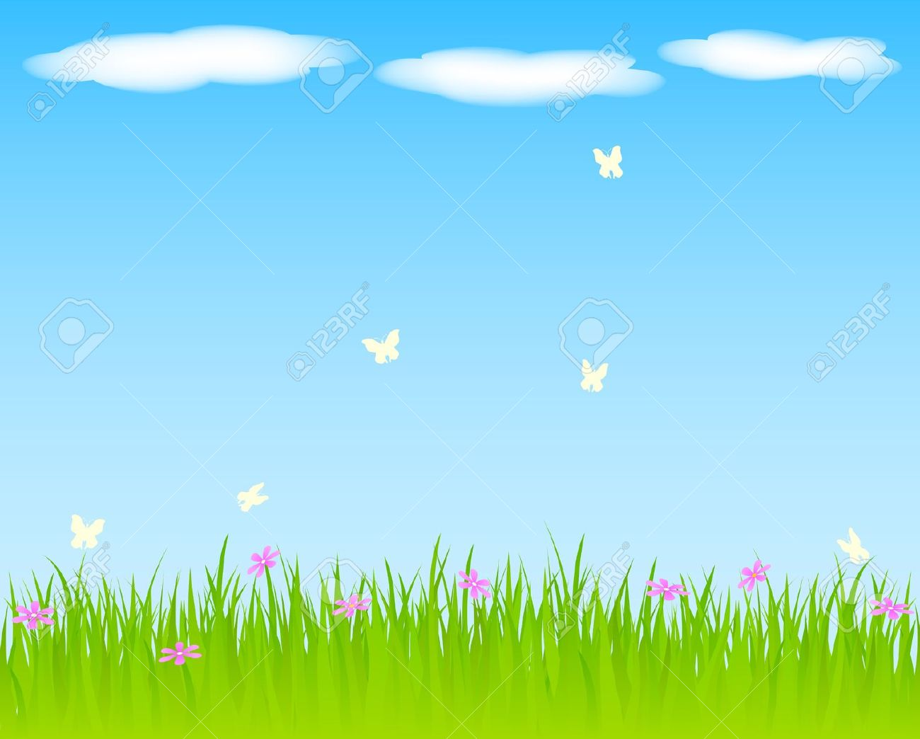 Outside clipart grass sky Spring Background Download – Spring