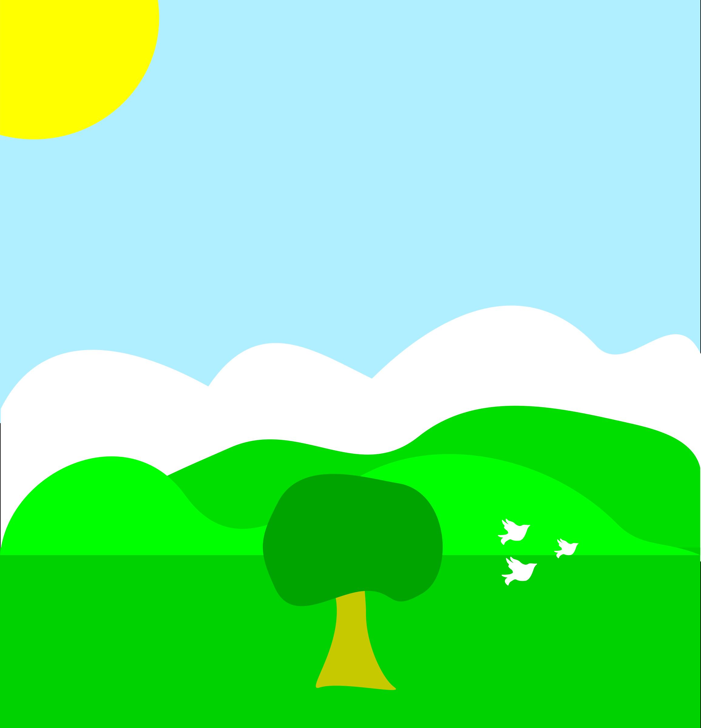 Scenery clipart sun sky #5
