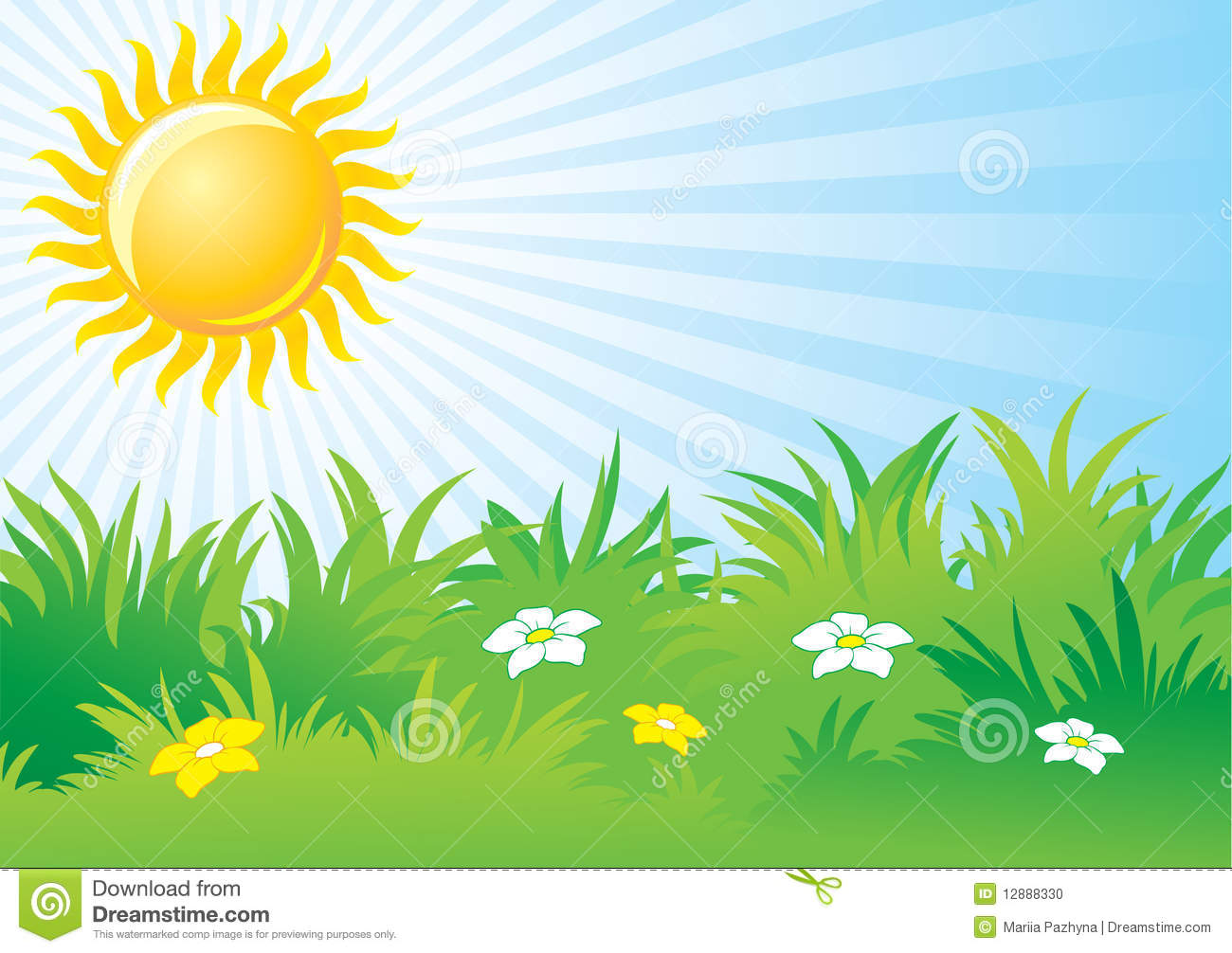 Cottage clipart bright sunny day Sunny Bright Sunny Day Clipart