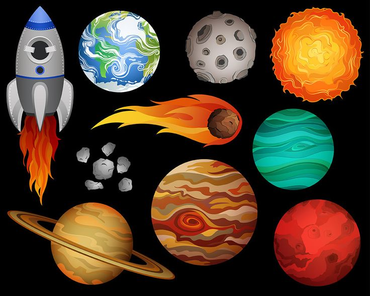 Galaxy clipart space exploration Digital — Clip images Galactic
