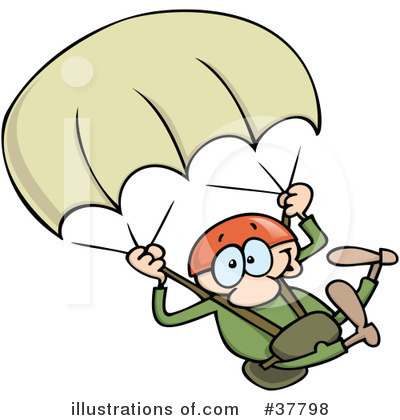 Skydiving clipart Illustration Skydiving by (RF) Clipart