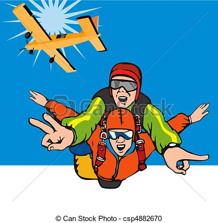 Skydiving clipart parasail Style on  and Skydiving