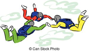 Skydiving clipart parasail Eps DIVING  Clip Sky