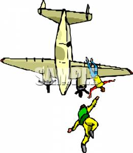 Skydiving clipart airplane Royalty Airplane Clipart of an