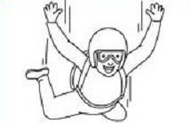 Skydiving clipart black and white Or Parachuting Skydiving Free Clipart