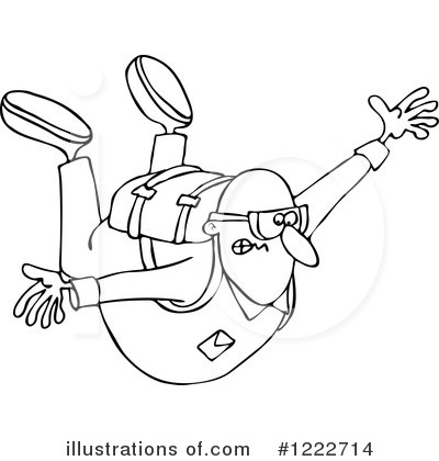 Skydiving clipart black and white By Skydiving Illustration Clipart djart