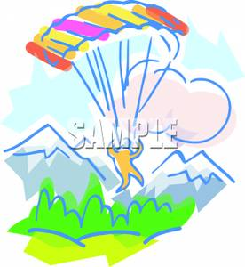 Skydiving clipart cute Colorful Falling Royalty Area Into