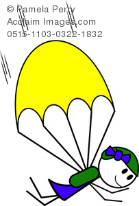 Skydiving clipart cute Girl Figure of Image a