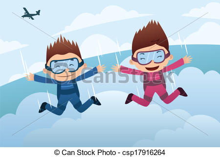Skydiving clipart cute Parachute Illu Skydiving nach pic