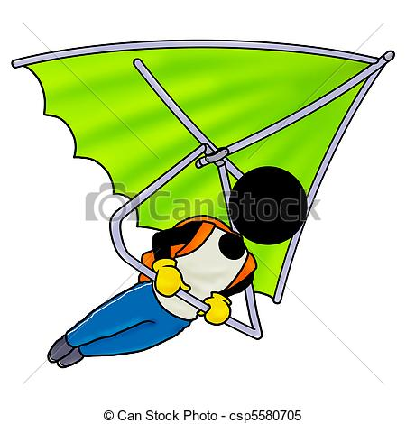 Skydiving clipart hang gliding And sport sky extreme royalty