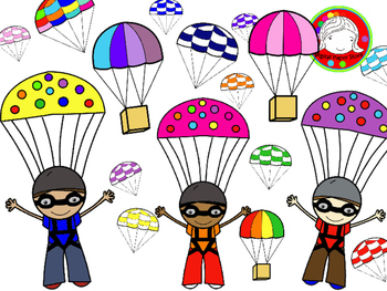 Skydiving clipart hang gliding & Commercial & & Parachute