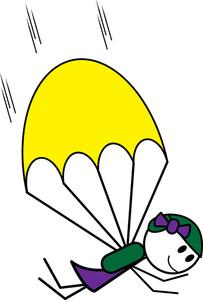 Skydiving clipart parachute jump Panda Parachute Clipart Clipart Free