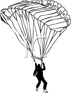 Skydiving clipart paragliding Sky  Black Clipart Through