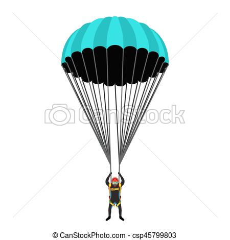 Skydiving clipart paragliding School Flat pack of illustration
